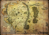 Hobbit - Map Foil Poster Póster