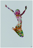 Dancer Watercolor 5 Prints by  NaxArt