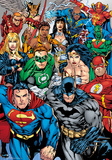 DC Comics Collage - Foil Poster Poster