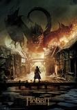 Hobbit Battle of the Five Armies - Smaug Foil Poster Affiches