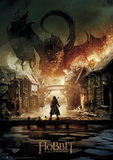 Hobbit Battle of the Five Armies - Smaug Foil Poster Obrazy