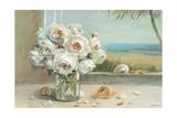 Coastal Roses v.2 Reproduction giclée Premium par Danhui Nai