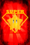Super Star 2 Plastic Sign
