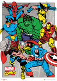 Marvel - Action Foil Poster Print