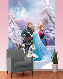 Disney Frozen Wallpaper Mural Vægplakat i tapetform