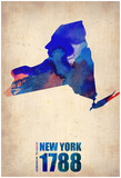 New York Watercolor Map Poster by  NaxArt