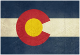 Grunge Colorado State Flag Of America, Isolated On White Background Poster by  Speedfighter