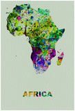 Africa Color Splatter Map Posters af NaxArt