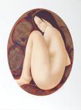 Seated Brunette Nude Limitierte Auflage von Alain Bonnefoit