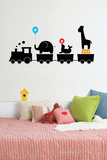 Circus Train Wall Decal