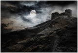 Night, Moon And Dark Fortress Posters by  fotosutra.com