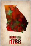 Georgia Watercolor Map Prints by  NaxArt