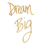 Dream Big (gold foil) Stampe