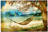 Tropical Scene- Artwork In Painting Style Prints by  Maugli-l