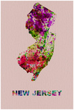 New Jersey Color Splatter Map Posters by  NaxArt