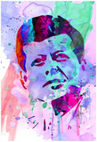 Kennedy Watercolor 2 Print by Anna Malkin