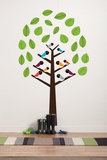 Trees and Birds Wall Decal