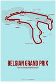 Belgian Grand Prix 3 Affiches par  NaxArt