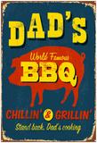 Dad's BBQ Affiche par Real Callahan