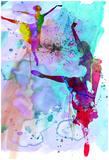Irina March - Two Ballerinas Watercolor 4 - Resim