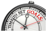 Time To Set Goals Concept Clock Posters by  donskarpo
