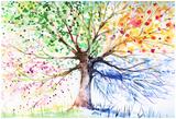 Gekrulde boom Posters van  DannyWilde