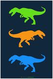 Dinosaur Family 22 Print by  NaxArt
