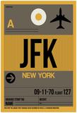 JFK New York Luggage Tag 3 Posters par  NaxArt