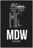 MDW Chicago Airport Black Posters by  NaxArt