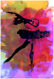 Black Ballerina Watercolor Posters van Irina March