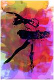 Irina March - Black Ballerina Watercolor - Reprodüksiyon
