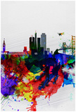 San Francisco Watercolor Skyline 1 Posters por  NaxArt