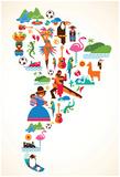 South America Love Posters par  Marish
