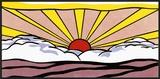 Nascer do sol, cerca de 1965 Pôsters por Roy Lichtenstein