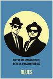 Blues Poster 2 Poster von Anna Malkin