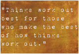 Inspirational Quote By John Wooden On Earthy Brown Background Affiche par  nagib