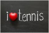 Love Tennis Plakaty autor Yury Zap