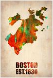 Boston Watercolor Map Prints by  NaxArt