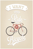 Retro Illustration Bicycle Posters by  Melindula