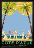 Ranskan Riviera Poster tekijänä Jean-Gabriel Domergue