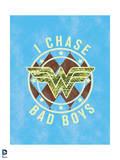 DC Wonder Woman Comics: Fun Fresh Varsity Design Prints