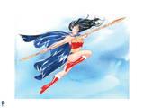 DC Wonder Woman Comics: Watercolor Design Art