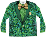 Long Sleeve: Shamrock Suit Costume Tee Shirt