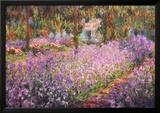 Kunstnerens hage ved Giverny, ca 1900 Poster av Claude Monet