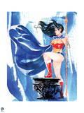 DC Wonder Woman Comics: Watercolor Design Posters