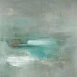 Misty Pale Azura Sea Poster von Heather Ross