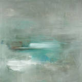Misty Pale Azura Sea Print by Heather Ross