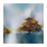Old Oaks & Sea Mist Giclee Print by J.P. Prior