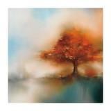 Morning Mist & Maple I Giclee Print by J.P. Prior