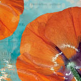 Poppies in the Sky I Poster by Sabine Berg